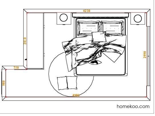 平面布置图格瑞丝系列卧房A4577