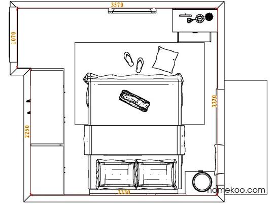 平面布置图斯玛特系列卧房A4579