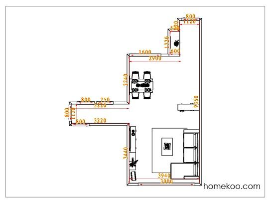 平面布置图柏俪兹系列客餐厅G1154
