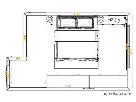 平面布置图斯玛特系列卧房A4609
