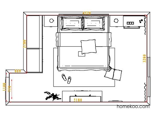 平面布置图贝斯特系列卧房A4611