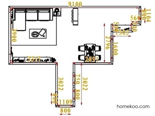平面布置图格瑞丝系列客餐厅G1168