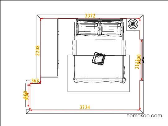 平面布置图柏俪兹系列卧房A4625