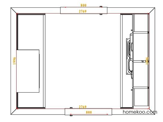 平面布置图格瑞丝系列厨房F3991