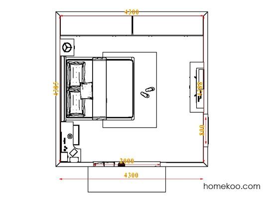 平面布置图德丽卡系列卧房A4634