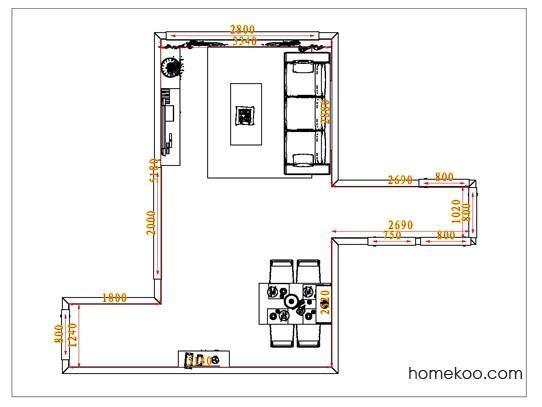 平面布置图德丽卡系列客餐厅G1176