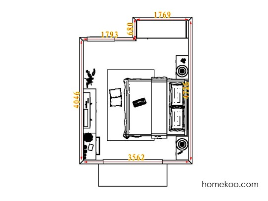 平面布置图贝斯特系列卧房A4669