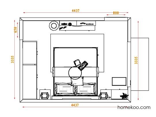 平面布置图德丽卡系列卧房A4672