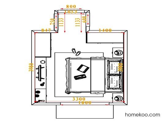 平面布置图贝斯特系列卧房A4682
