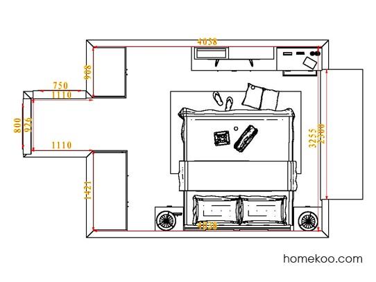平面布置图乐维斯系列卧房A4684