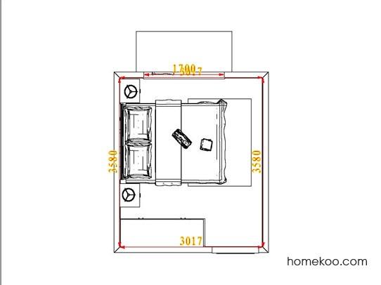 平面布置图格瑞丝系列卧房A4717