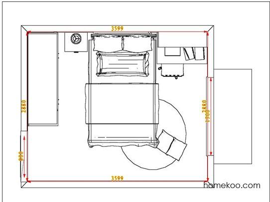 平面布置图贝斯特系列青少年房B3531