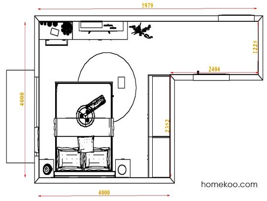 平面布置图斯玛特系列卧房A4743