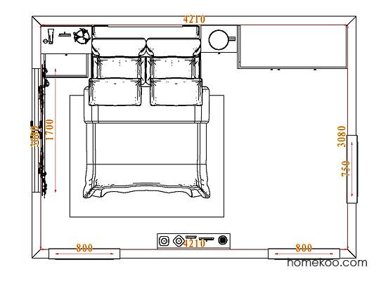 平面布置图贝斯特系列卧房A4810