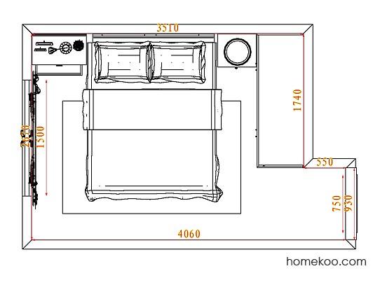 平面布置图斯玛特系列卧房A4812