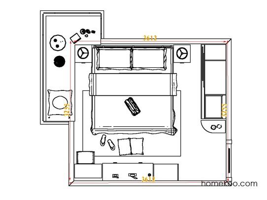 平面布置图德丽卡系列卧房A4830