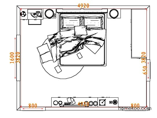 平面布置图柏俪兹系列卧房A4839
