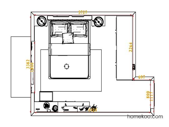 平面布置图斯玛特系列卧房A4856