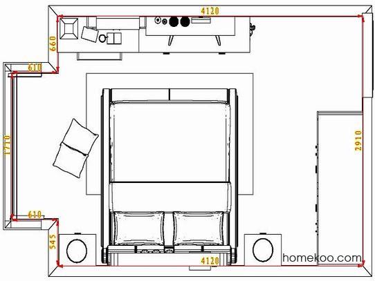 平面布置图格瑞丝系列卧房A4861