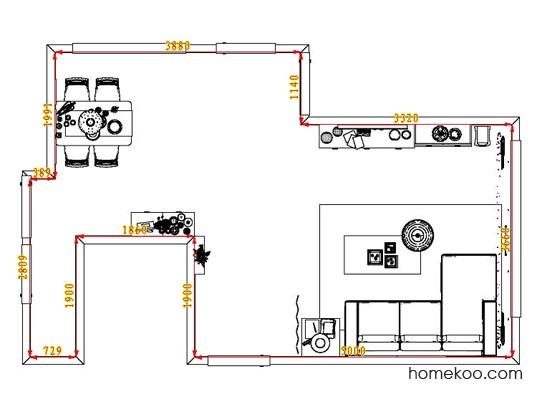 平面布置图德丽卡系列客餐厅G1215