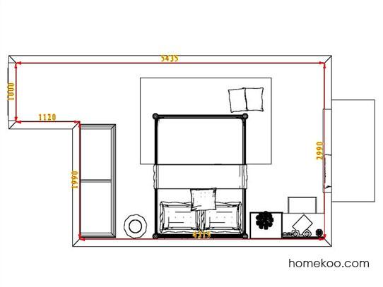 平面布置图贝斯特系列卧房A4878