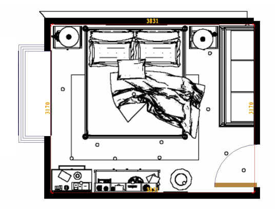 平面布置图柏俪兹系列卧房A4881