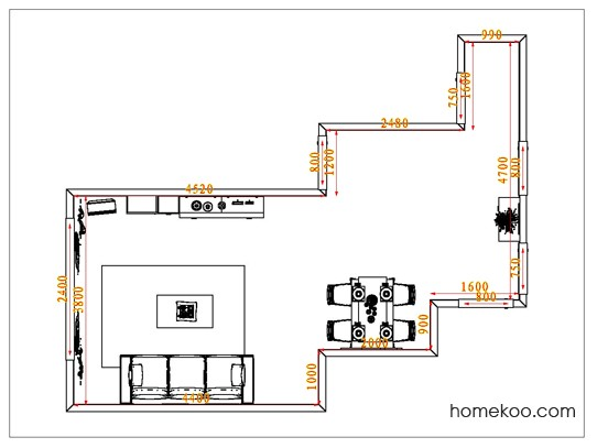 平面布置图德丽卡系列客餐厅G1221