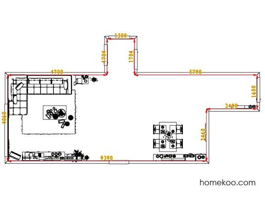 平面布置图柏俪兹系列客餐厅G1224