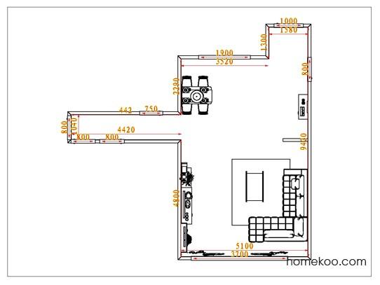平面布置图格瑞丝系列客餐厅G1231