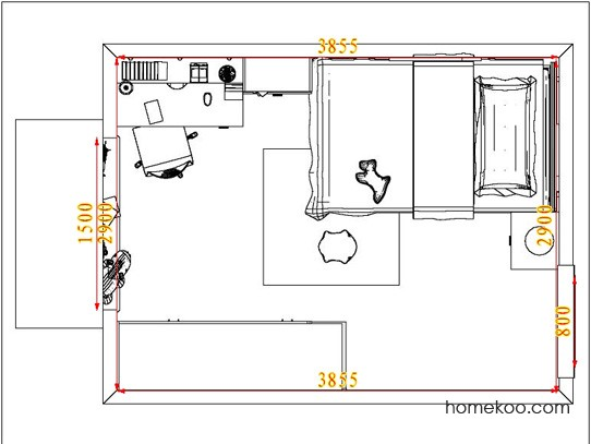 平面布置图斯玛特系列青少年房B3570