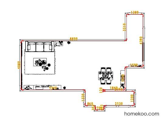 平面布置图斯玛特系列客餐厅G1235