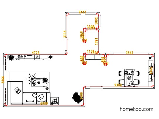 平面布置图乐维斯系列客餐厅G1236