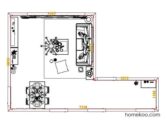 平面布置图贝斯特系列客餐厅G1249