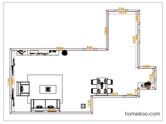平面布置图德丽卡系列客餐厅G1250