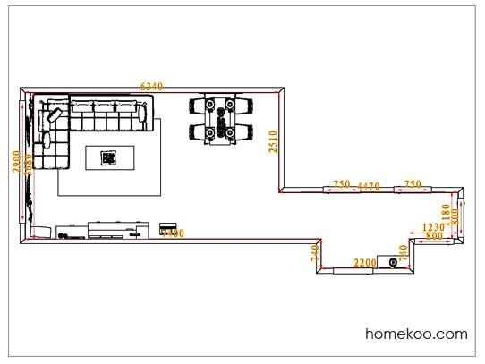 平面布置图斯玛特系列客餐厅G1257