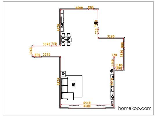 平面布置图斯玛特系列客餐厅G1259