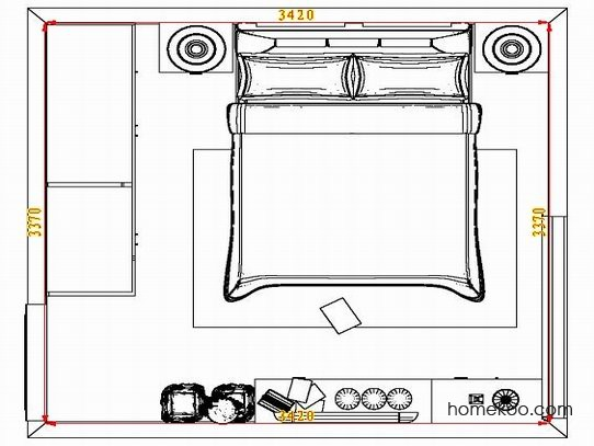 平面布置图斯玛特系列卧房A5055