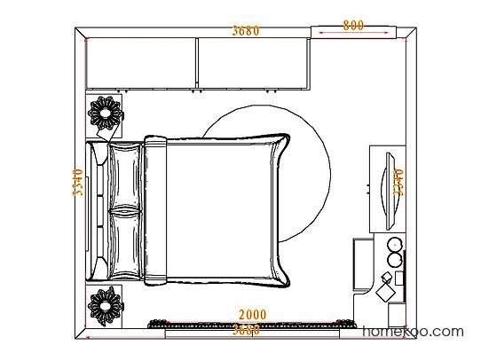 平面布置图格瑞丝系列卧房A5067