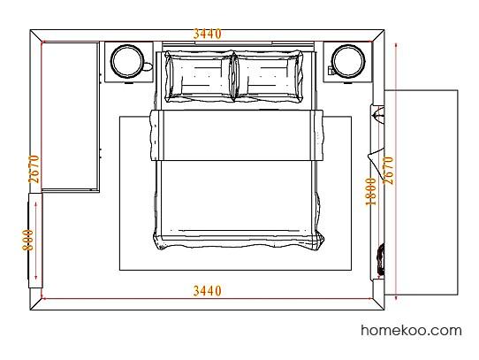 平面布置图斯玛特系列卧房A5068
