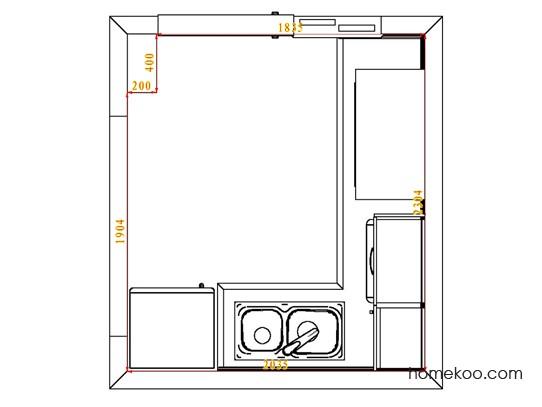 平面布置图斯玛特系列厨房F4100