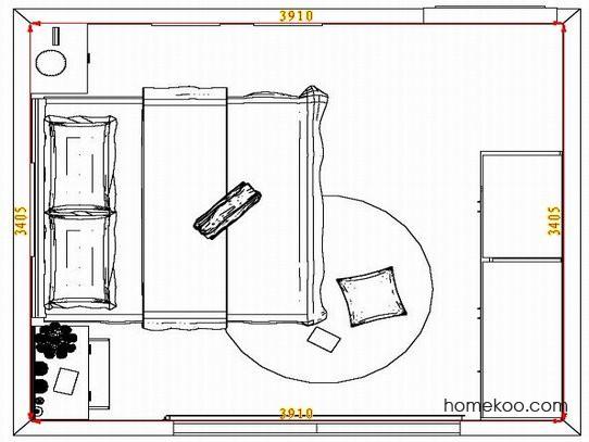平面布置图格瑞丝系列卧房A5071