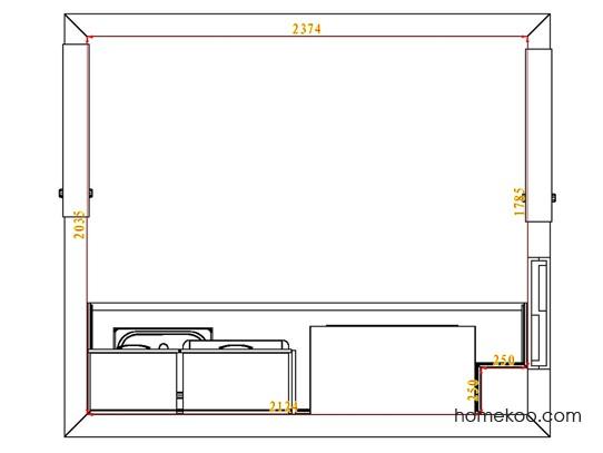 平面布置图乐维斯系列厨房F4102