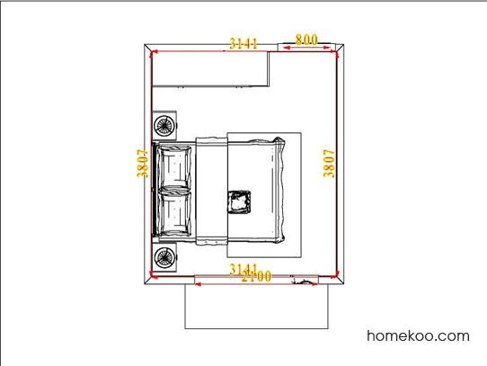 平面布置图乐维斯系列卧房A5084