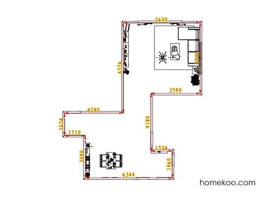 平面布置图柏俪兹系列客餐厅G1271