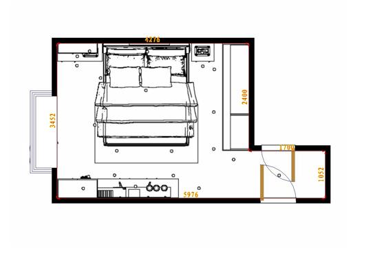 平面布置图格瑞丝系列卧房A5102
