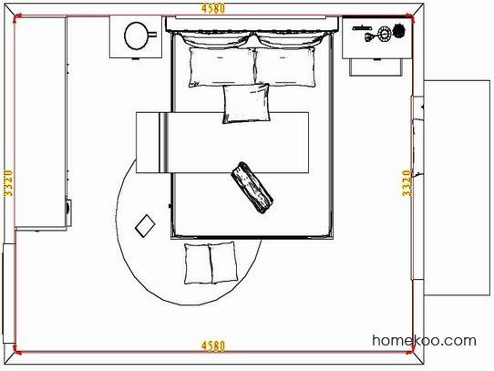 平面布置图格瑞丝系列卧房A5125