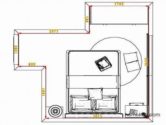 平面布置图斯玛特系列卧房A5131