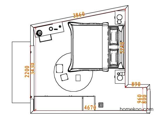 平面布置图格瑞丝系列卧房A5137