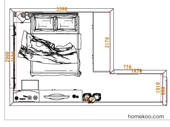 平面布置图格瑞丝系列卧房A5139