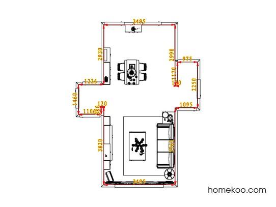 平面布置图德丽卡系列客餐厅G1274